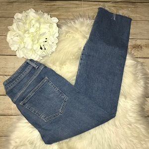 Free People Girlfriend Fit, Raw Hem Denim Jeans